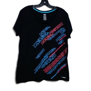 🦔 Athletic Works T-Shirt Top Spotty Print Retro